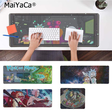 лучшая цена MaiYaCa Cartoon Manga Anime Rick and Morty Comfort Mouse Mat Gaming Mousepad Free Shipping Large Mouse Pad Keyboards Mat