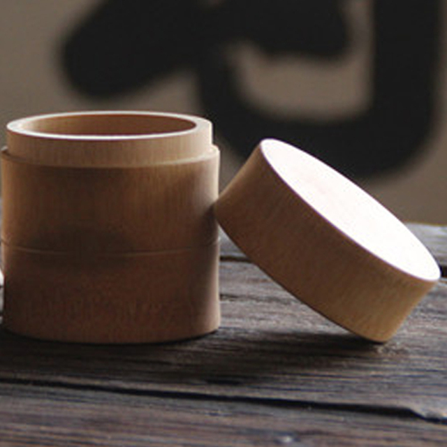 Natural Bamboo Matcha Canister Eco-friendly Powder Green Tea Caddy Tea Chest Tea Capacity Matcha Tea Tools Accessories Wholesale