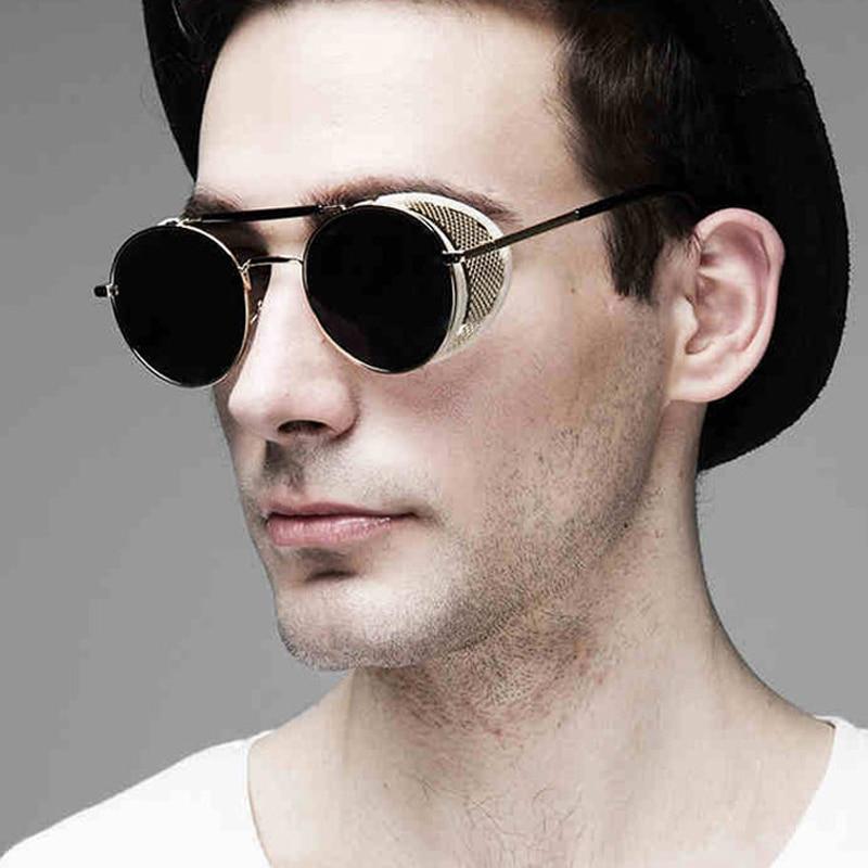 Pop Age új divat gótikus gőz Punk szemüveg márka tervező tükör vezetés nők férfiak Steampunk napszemüveg Oculos de sol