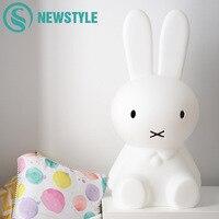50cm Baby BedRoom Rabbit Night Light Dimmable Children Warm White LED Night Lamp Cartoon Decorative Lamp