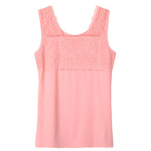 New Summer Style Cute Ladies Tube Tops Lace T-shirt Vest Fitness Sexy Sleeveless Multicolors Temperament Women Tank Tops F0213