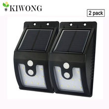 [נוסח חדש] 10 נוריות אור השמש חיצוני עם motion חיישן תאורה סולארית מנורת 300 lumens waterproof עבור ביטחון גינה