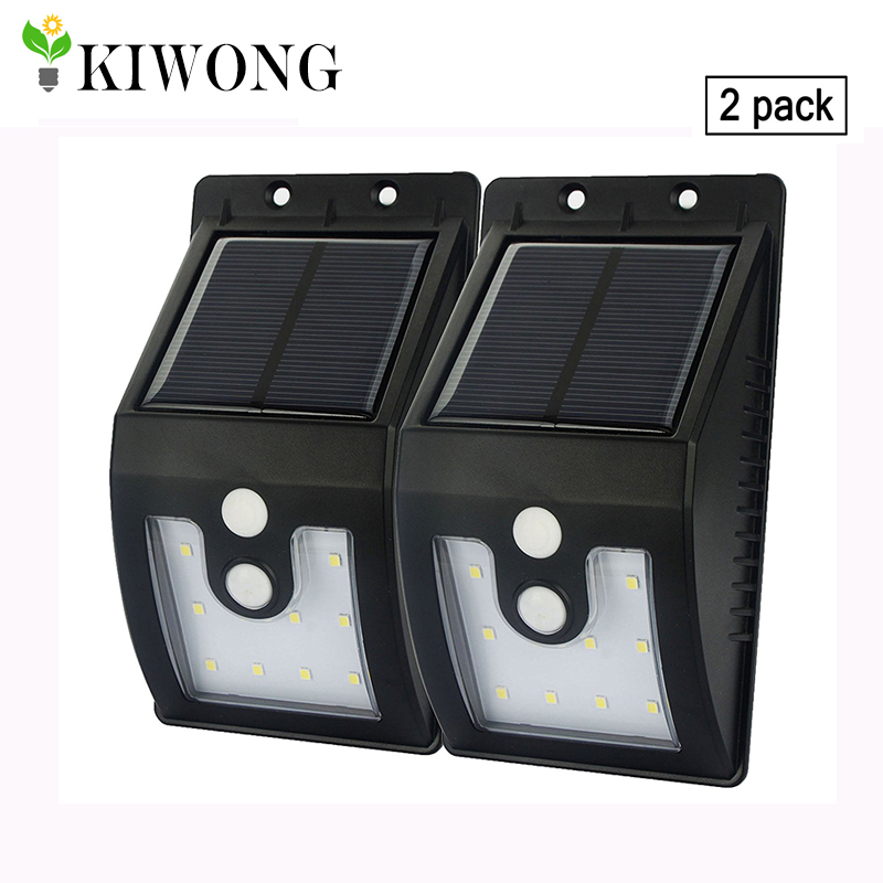 New Version 10 Leds Solar Light Outdoor With Motion