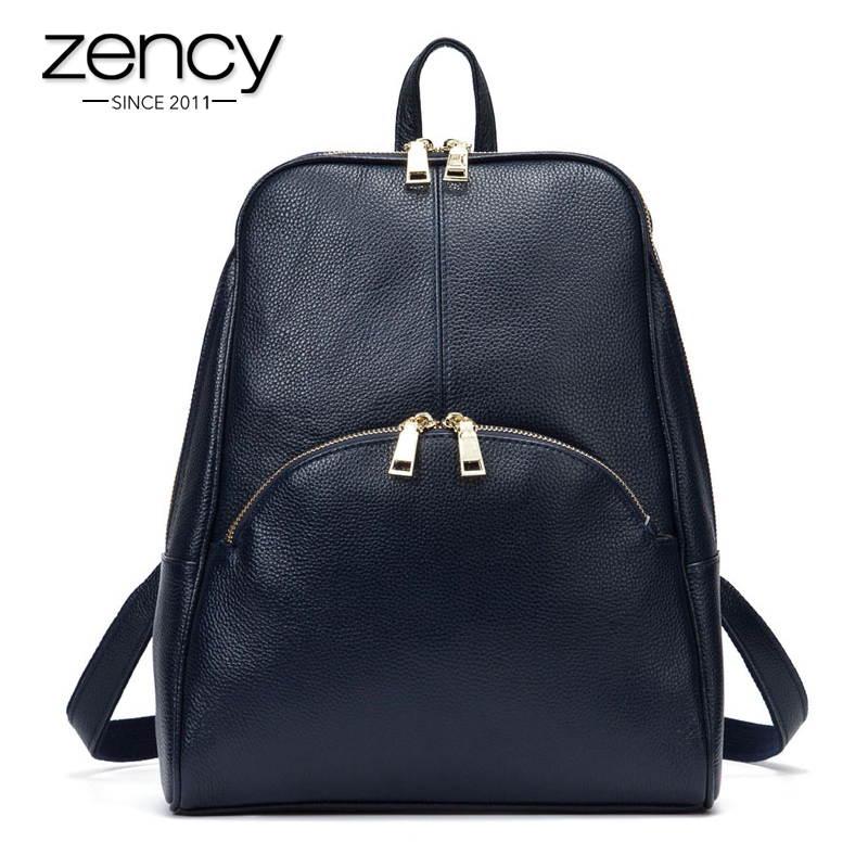 2017 Fashion Women High Quality Real Genuine Leather Ladies Backpack for Teenage Girls School Bags Laptop Travel Mochilas Mujer tiding genuine leather school backpack for teenage girls vintage stylish ladies drawstring 14 inch laptop backpack 2017