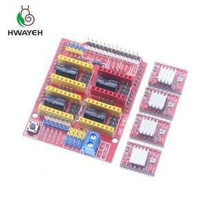 Image 5 - Macchina per incidere di cnc shield V3 3D Printe + 4pcs DRV8825 driver di scheda di espansione per Arduino UNO R3 con USB cavo