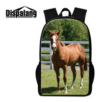 Dispalang Horse Print School Backpack Animal School Bags For Primary Students 16 Inch Large Bookbags For Children Rucksack Pack