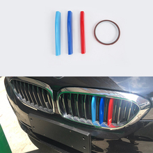 ABS Chrome Exterior car-styling accessories Plastic Three Color front grill  cover 4pcs For BMW 5 series high quality