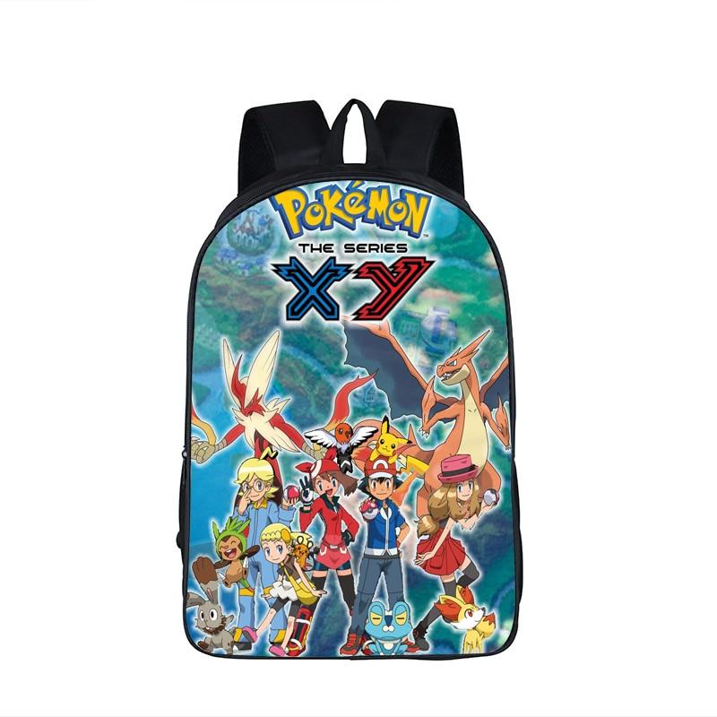 7499c6f78a25 Anime Pokemon School Backpack Teenage Boys Girls Casual Daypacks Pikachu  Arceus Mew Charizard Cartoon Children School Bags Gift