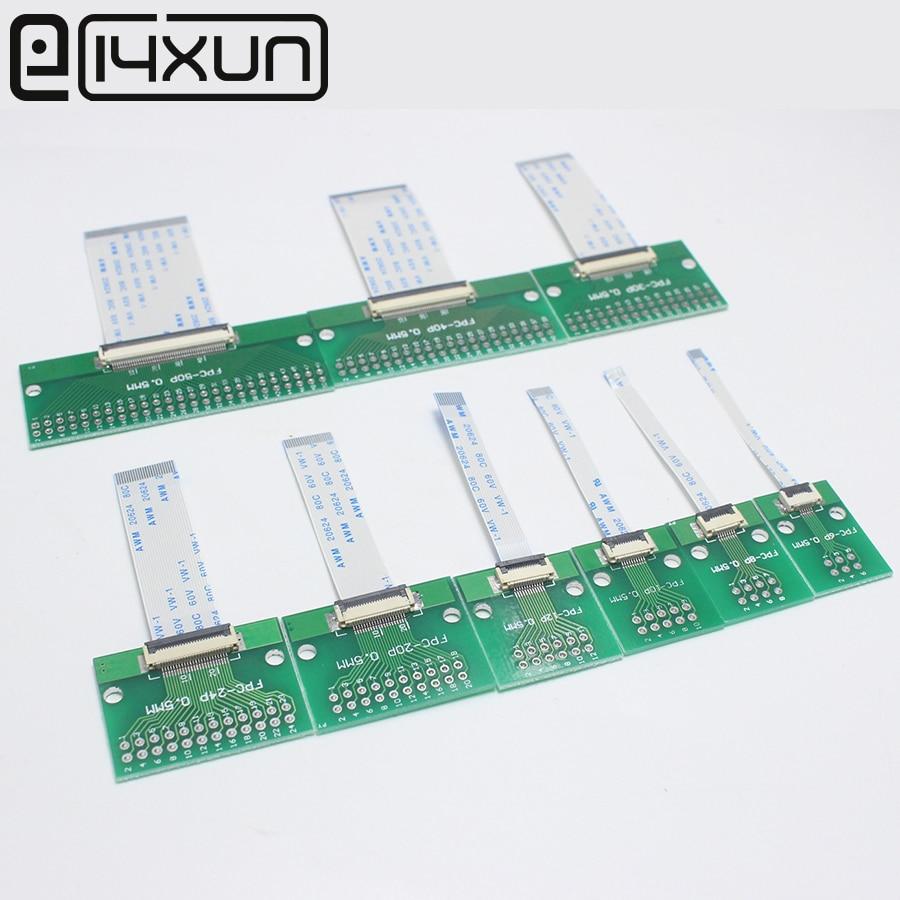 1 пара, шаг 0,5 мм, разъем SMT адаптер для 2,54 мм 1,00 дюйма шаг 0,5 мм шаг 50/100/150/200 мм длина FFC кабель 6/8/10/12/50P