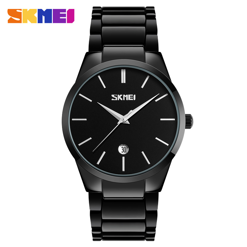 SKMEI Men Quartz Watch Waterproof Calendar Sport Watches Alloy Straps Luxury Wristwatches Fashion Clock Relogio Masculino 9140 skmei men quartz watch waterproof calendar sport watches alloy straps luxury wristwatches fashion clock relogio masculino 9140