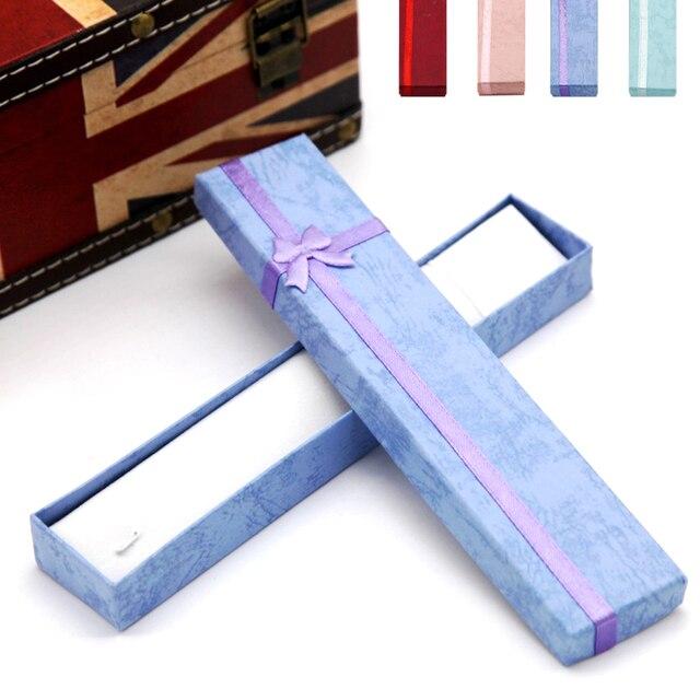 1 pc di Cartone Flanella lunga collana di gioielli contenitore di regali di nozz