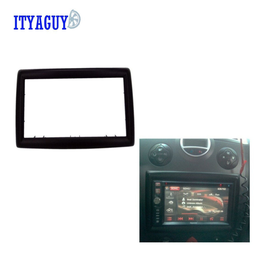 2din car radio fascia for renault megane ii 2003 2009 stereo facia frame panel dash mount kit. Black Bedroom Furniture Sets. Home Design Ideas