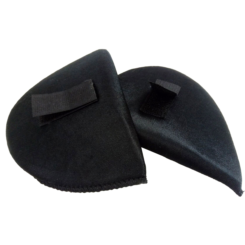 2 Pairs Black Shirt Sponge Shoulder Pads with Sticker Cloth Encryption Pads for Blazer/Tshirt Clothes Sewing Accessories