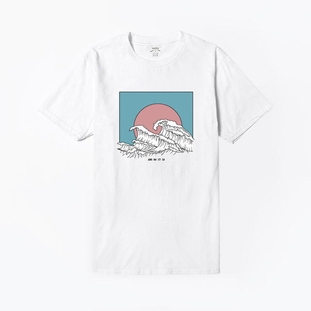 Women's Waves Printed T-Shirt