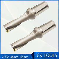 free delievery ZD02 48mm 65mm WC Drill Type For 2D U Drilling Shallow Hole metal working indexable insert drills