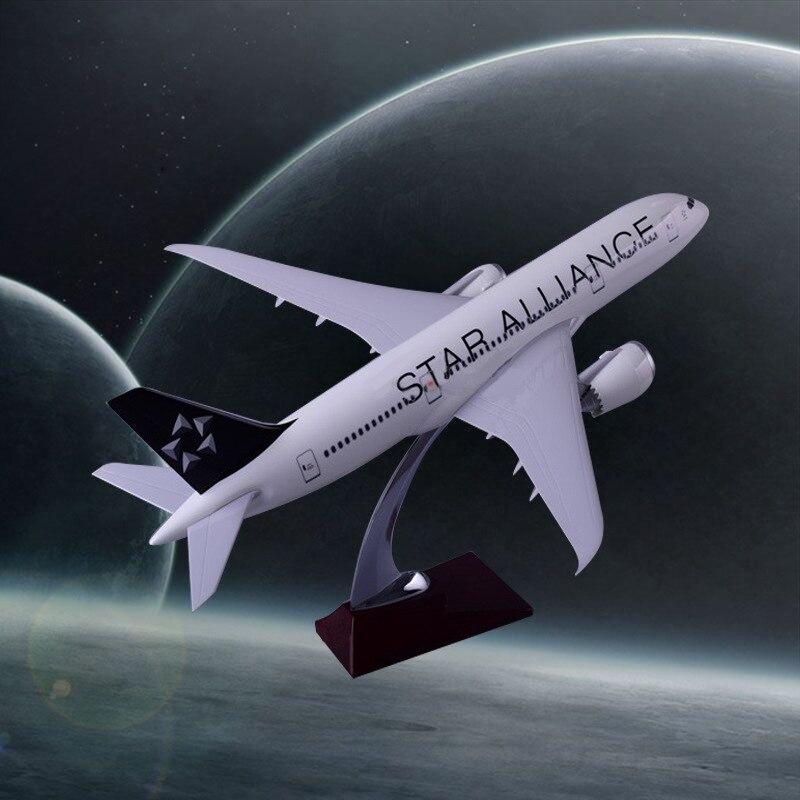 43 cm modèle d'avion en résine B787 Star Alliance Airlines modèle d'avion Boeing 787 Airways modèle Airbus artisanat en gros