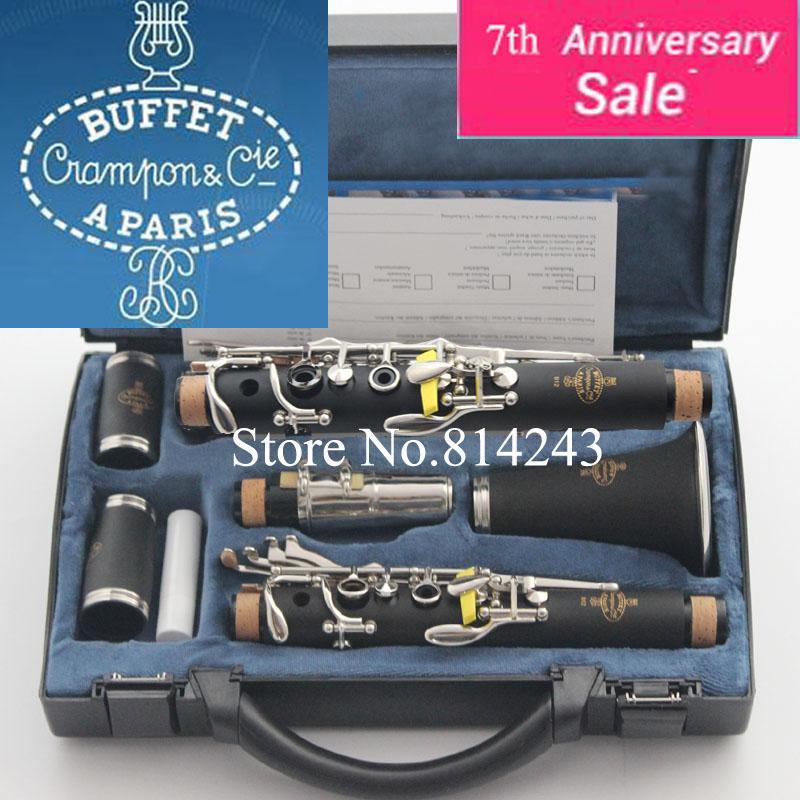 Prix pour Haute Qualité Buffet 1986 B12 Clarinette 17 Clé Crampon & Cie Apris Clarinette Avec Noir Cas Bakélite Tube Clarinette Musical Instruments