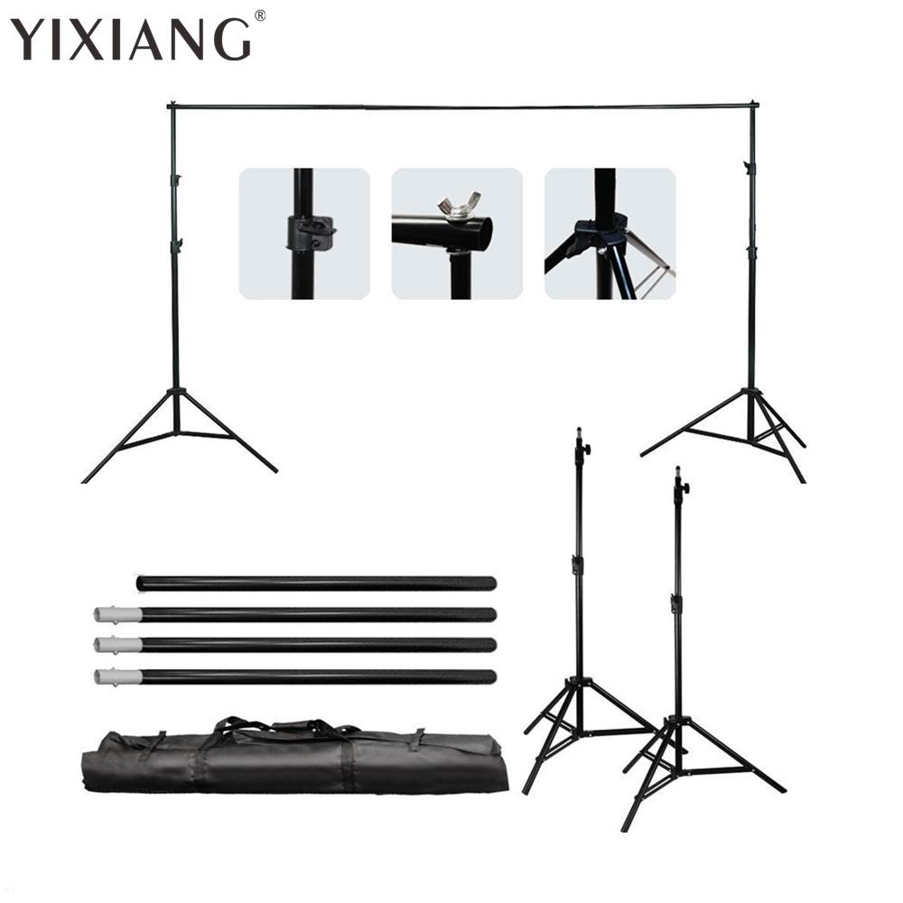 YIXIANG 2MX2M 6.5FTX6.5FT Background Backdrop Stand Support System Professinal Photography Photo studio + carry bag