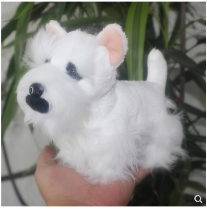 Image 4 - Original lovely  Schnauzer Pet Dog Simulation Animal Soft Stuffed Plush Toy for children Birthday Gift friend girlfreind  GiftStuffed & Plush Animals   -