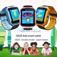 Купить с кэшбэком 2018 Hot Kids Smart Watch GPS Tracking Watch Q529 Baby Life Assistant SOS Phone with Bluetooth Ultra-long Sport Bracelet