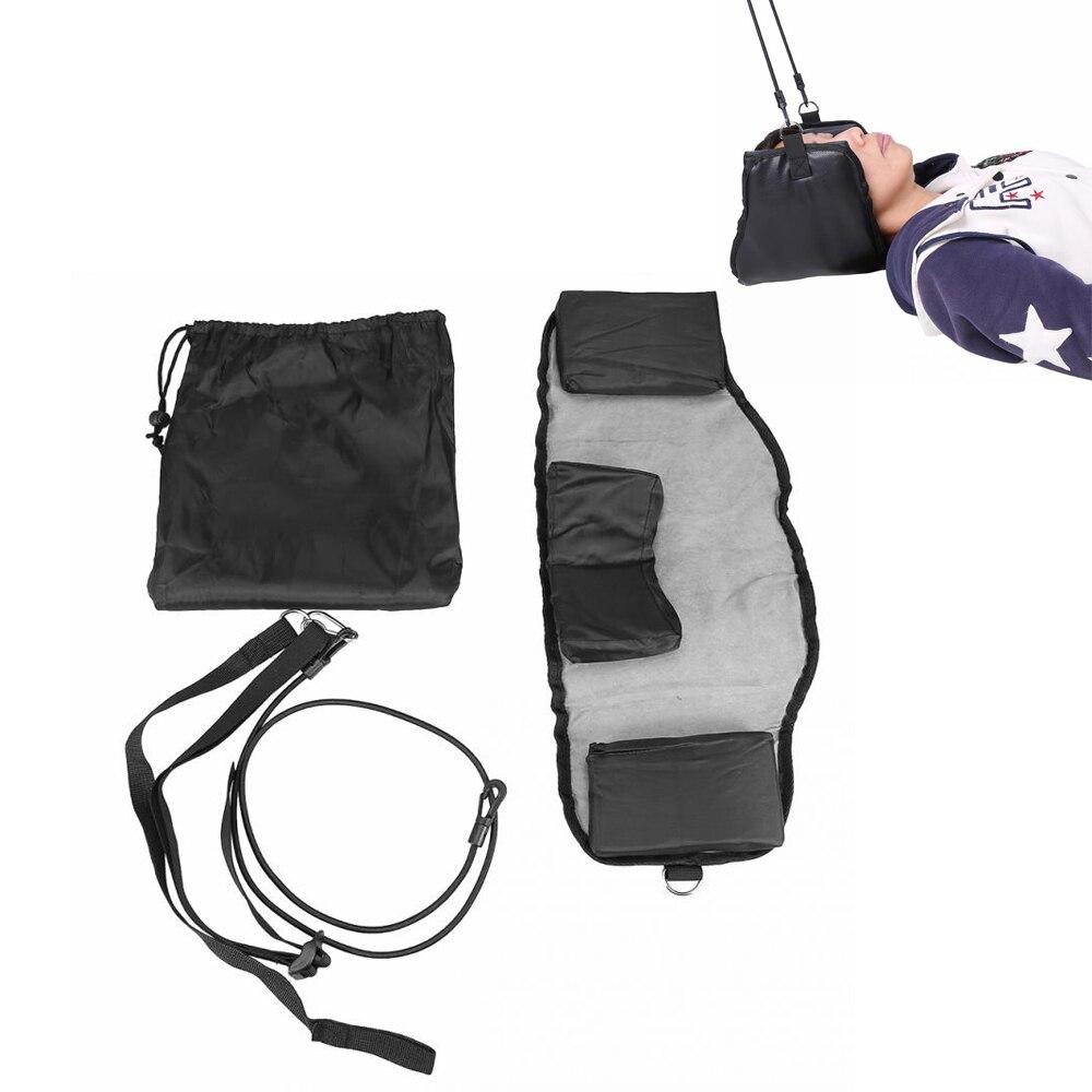 Cabeza portátil hamaca cuello tracción masaje alivio del dolor Cervical cuello Camilla dispositivo de tracción Anti fatiga cuello Honda hamaca