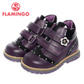 FLAMINGO high quality fashion spring/autumn leather children's shoes for girl 2015 new collection anti-slip boots Boots 52-CB307