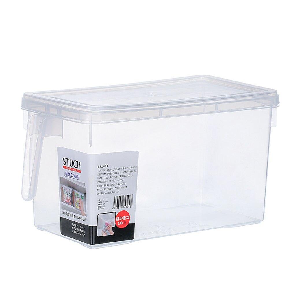 Storage Collecting Box Basket Kitchen Refrigerator storage box with lid food Fruit Food Organiser Utility