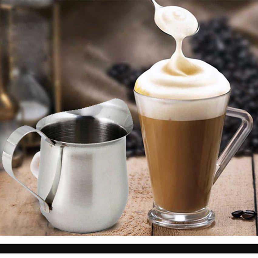 2 Oz/3 Oz/5 Oz/7 Oz Stainless Steel Susu Buih Kendi Cappuccino Barista Kerajinan Kopi latte Buih Kendi Tarik Bunga Cup