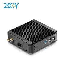 XCY Quad-Core Mini PC Intel Celeron N2930 N2940 N3510 N3530 Windows 10 Busines PC HTPC HDMI VGA Wireless Wi-Fi 12V Energy Saving