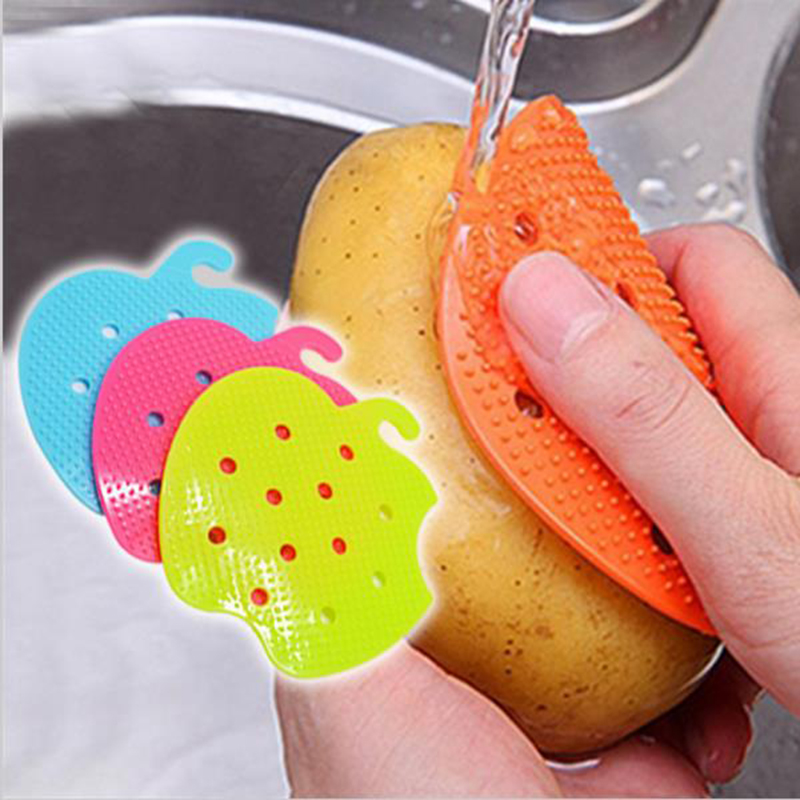 Multi-functional Fruit Vegetable Brush Cooking Tool Easy Cleaning Brush Kitchen