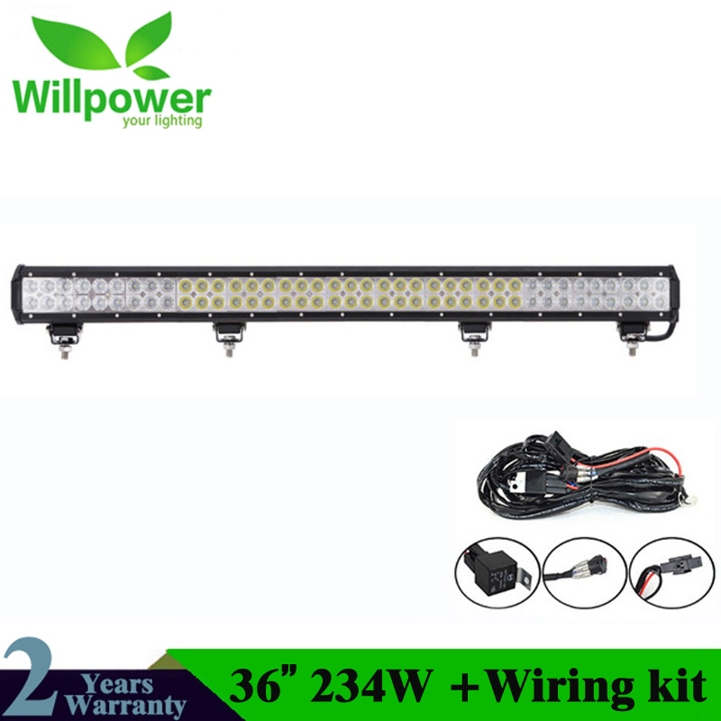 234w 12v LED lumière de conduite 36 pouces barre de lumière LED COMBO faisceau LED barre de lumière de travail IP67Car barre de lumière de galerie de toit pour Jeep 4x4 UAZ