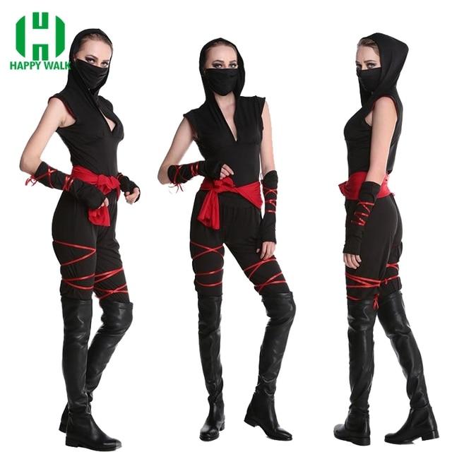 Halloween Sexy Ladies Female Ninja Costume Cosplay Fancy Dress For