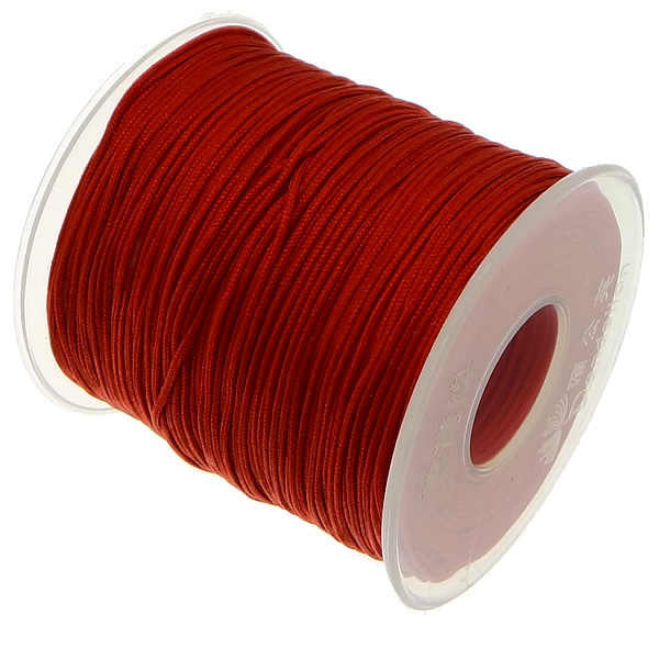 100 yards 1MM Nylon Cord String Strap Wholesale Necklace Rope Bead Fit European Bracelet DIY 100yards spool 1mm waxed cotton cord thread cord plastic string strap diy rope bead necklace european bracelet ma