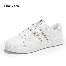 Fine Zero Unisex Spring Autumn Casual shoes Men zapatillas zapatos hombre black white Couple lace up flat male winter shoes