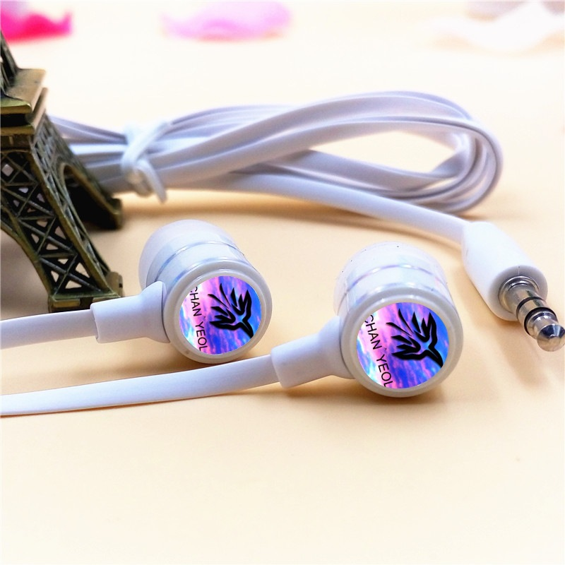 EXO-K EXO CHAN YEOL In-ear Earphone 3.5mm Wired Stereo Earbuds Microphone Phone Music Headset for Iphone Samsung Xiaomi VIVO MP3