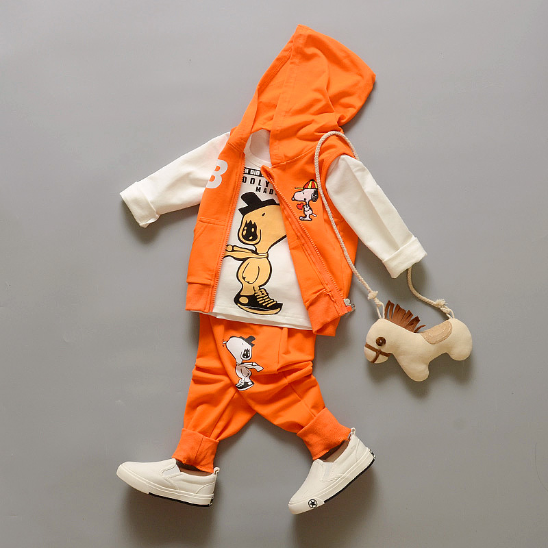 Baby boy girl clothes Spring/summer/autumn kids clothes sets t-shirt+pants+vest suit clothing set Clothes newborn sport suits baby boy clothes 2016 summer kids clothes sets t shirt pants suit clothing set glasses printed clothes newborn
