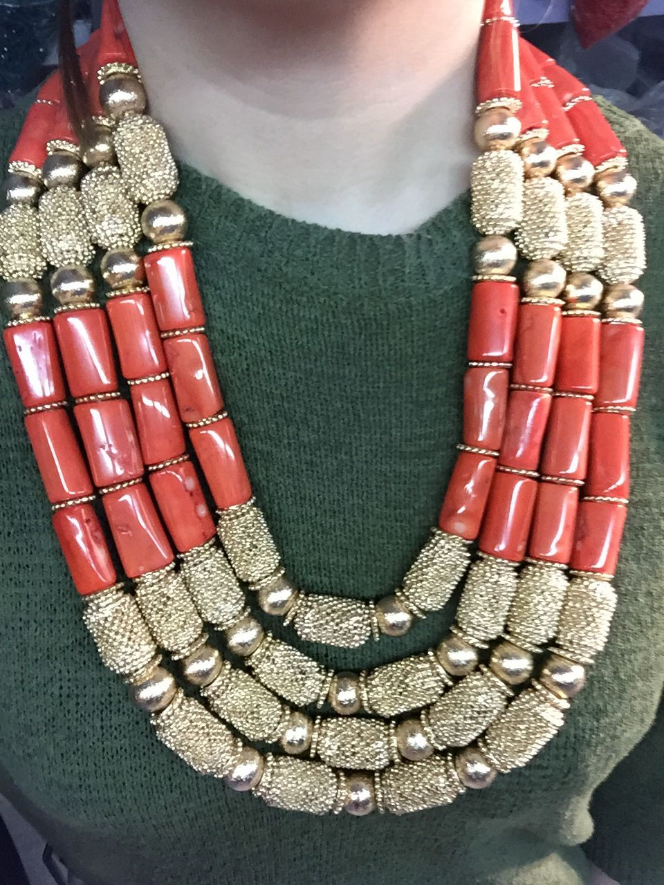 Fantastische Hochzeit Korallen Perlen Afrikanischen Schmuck Sets New - Modeschmuck - Foto 2