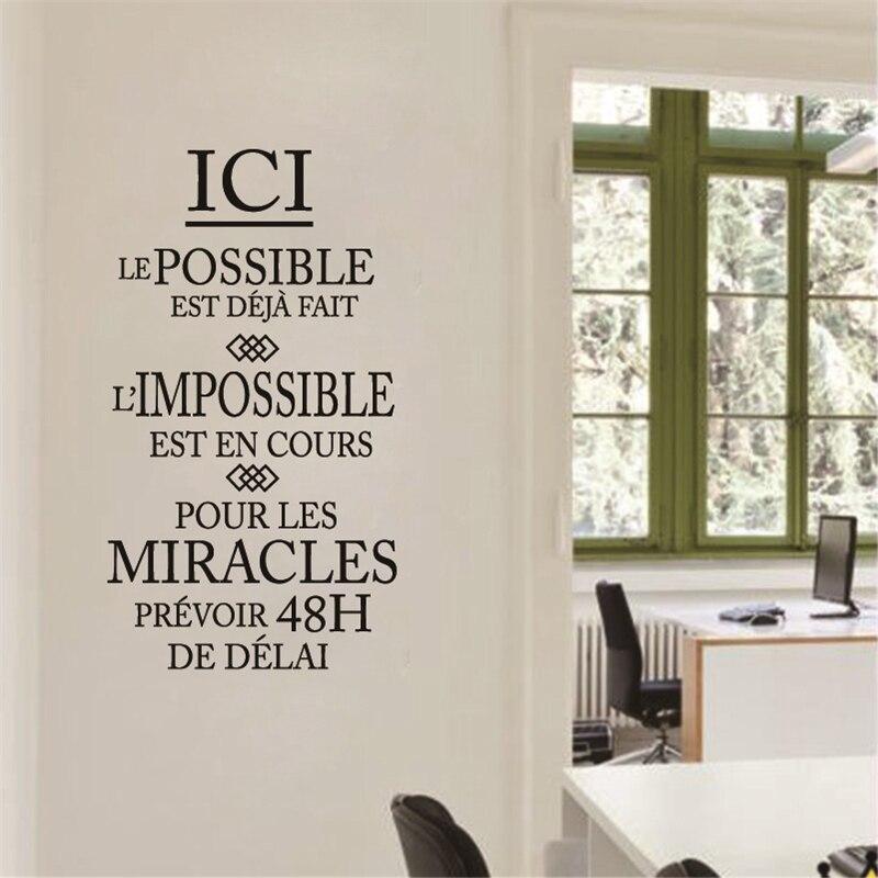 French Inspiration Citation L Impossible Est En Cours Removable