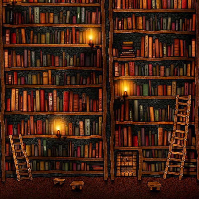 xft vintage oscuro gabinete estante de libros de la biblioteca caso escalera estudio teln de