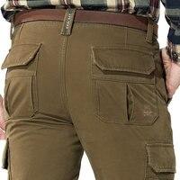 30 44 2016 New Autumn Mens Plus Size Fleece Trousers Pants Cotton Casual Trousers Man Straight