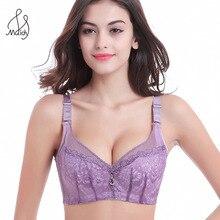 Transparent Lace Sexy Women Bra,big Size C D Cup Push Up Bra Underwire Brassiere, Side Adjustment Underwear 85 90 95 100 105