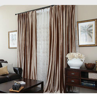 New Velvet Blinds Shinny Fabric Curtain For Livingroom Silver GIGIZAZA Black Out Custom Size Shade American