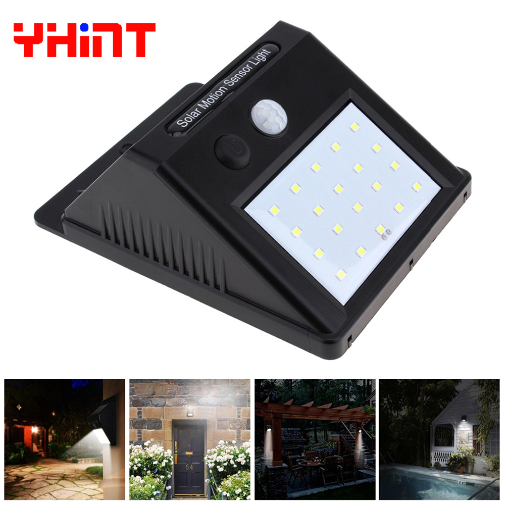 20led Outdoor Solar Sensor LED wall Light, PIR Motion
