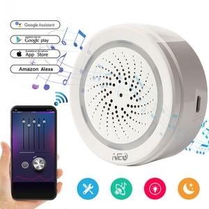 Image 2 - NAS AB02WT Smart WiFi Siren Alarm Sensor USB Power  Temperature and Humidity Sensor Workes with Alexa Echo and Google Home,IFTTT