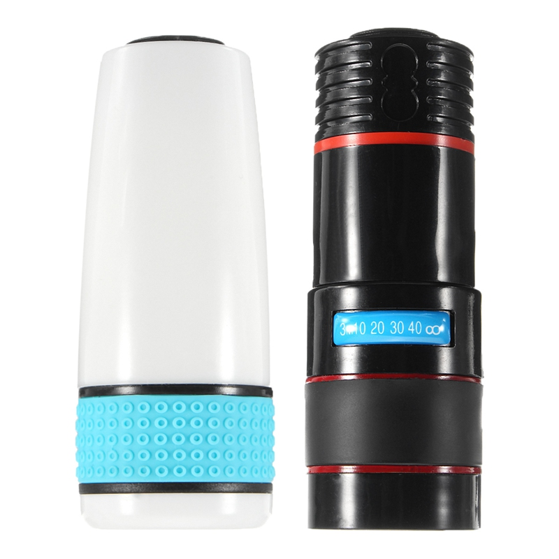 Universal 12x Optical Zoom Telescope Telephoto Lens Clip on Observing Camping For iPhone Android Mobile Cell Phone Camera Lens
