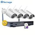 Plug and Play P2P 4CH NVR Sistema de CCTV WI-FI Sem Fio 4 pcs 1080 P 2.0MP 3000TVL Vídeo HD CCTV Câmera IP Night Vision Segurança Kit