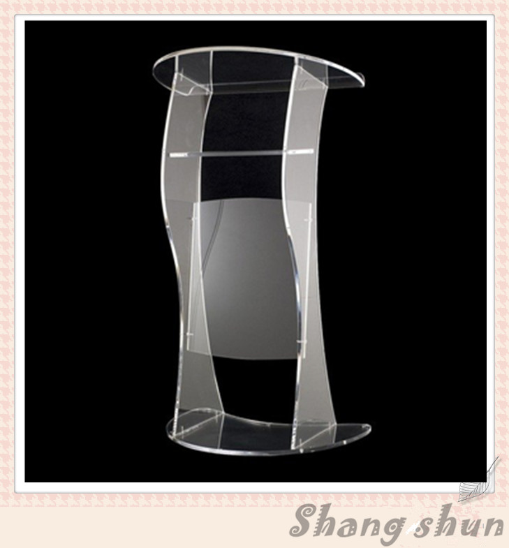 Modern Church Podium Acrylic Ppodiums Lecterns And Pulpit Stands / Acrylic Stage / Custom Perspex Church Podium