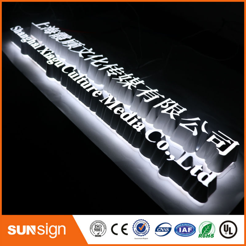 3D Acrylic LED Letters Advertising Business Signs Custom