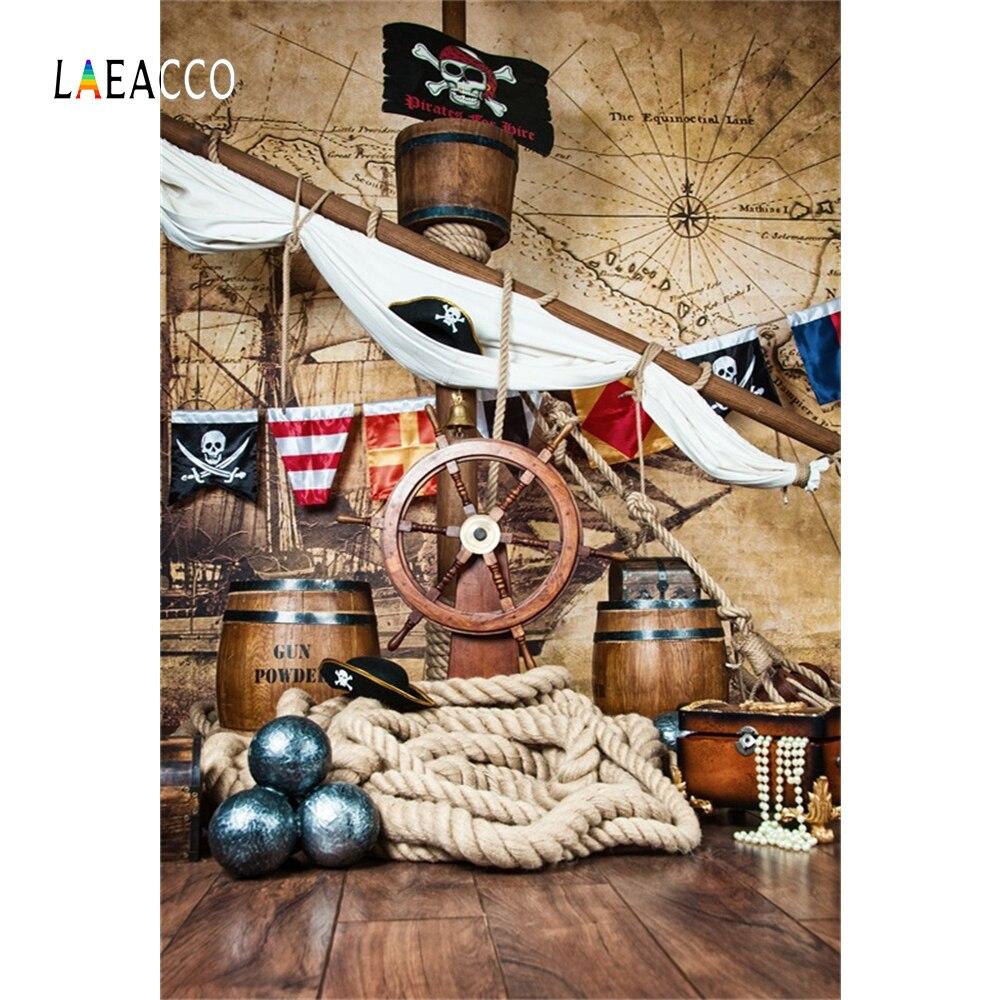 Пиратский день рождения фонов для фотографии палубе корабля карта мира партии ребенка портрет по фото Фоны Photocall Фотостудия|photographic backdrops|backdrops for photos|photography background - AliExpress