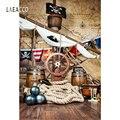 Пиратский день рождения фонов для фотографии палубе корабля карта мира партии ребенка портрет по фото Фоны Photocall Фотостудия